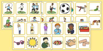 Tarjetas de dibujo - el cuerpo saludable - salud, ejercicio, cuerpo, deporte