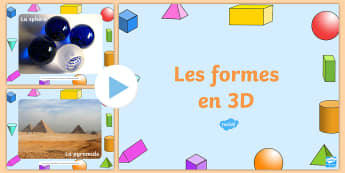 PowerPoint : Photos de formes en 3D - Powerpoint les formes en 3D, 3D, formes, photos, objets, maths, géométrie, 3D Shape Photo PowerPoi