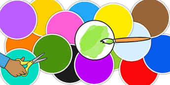 Large A4 Multicoloured Editable Circles - Shapes, Edit, Big