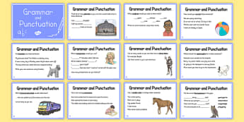 Year 5 Grammar and Punctuation Challenge Cards - grammar, punctuation, cards, year 5, spag