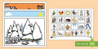Seasonal Pictures Cut and Stick Activity English/Polish - Seasonal Pictures Cut and Stick Activity - seasonal picture, cut and stick, activities, cut and stic