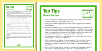 Top Ten Tips for Student Teachers - student, teachers, top ten, tips