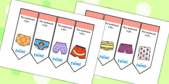 Story Editable Bookmarks to Support Teaching on Pants - pants story, bookmarks, bookmark awards, books, reading, reward bookmarks, rewards, themed bookmarks, editable bookmarks