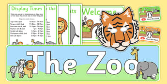 Zoo Role Play Pack - Zoo Role Play, zoo, at the zoo, zoo resources, Role Play Pack - role play, Display signs, display, labels, packzoo animals, animals, zoo ticket, the zoo, living things, role play, display, poster