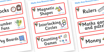 Rooster Themed Editable Maths Area Resource Labels - Themed maths resource labels, maths area resources, Label template, Resource Label, Name Labels, Editable Labels, Drawer Labels, KS1 Labels, Foundation Labels, Foundation Stage Labels, Teaching Lab