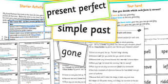 Using the Present Form of Verbs in Contrast to Past Tense Lessons