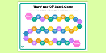 'Have' Not 'Of' Board Game Board Game