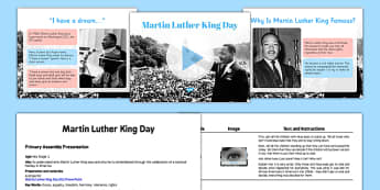 Martin Luther King KS1 Assembly Pack - martin luther king, ks1, assembly, pack, script, presentation