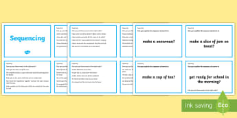 Guided Reading Skills Task Cards Sequencing - guided reading
