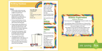 Walking Rainbow Science Experiment - St Patricks Day, Rainbow, Colours, walking, science, experiment