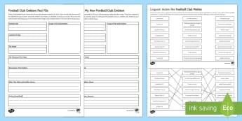Football Club Emblems and Mottos Fact File Activity Sheets - football clubs, everton, liverpool, Tottenham Hotspurs, emblems, mottos, Latin roots, design your ow