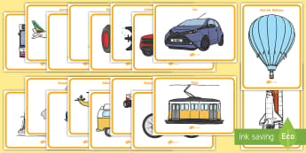 Transport Display Posters  - Transport Flash Cards - flash cards, cards, flash, image cards, word cards, transport, travel, trave