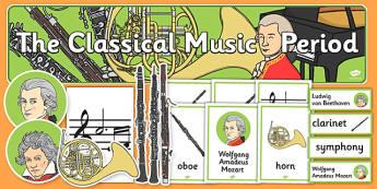 Classical Period Music Display Pack - classical, period, music