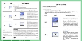 Eid al-Adha Assembly Script - eid al-adha, assembly, script