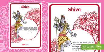 Shiva Information Display Poster - Shiva, Hindu, God, Trinity, Hinduism.