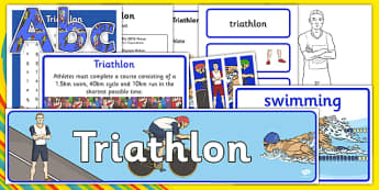 Rio 2016 Olympics Triathlon Resource Pack - Triathlon, Olympics, Olympic Games, sports, Olympic, London, 2012, resource pack, pack resources, activity, Olympic torch, events, flag, countries, medal, Olympic Rings, mascots, flame, compete