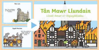 Pŵerbwynt Llinell Amser Tan Mawr Llundain - WL Social Media Requests in Welsh KS2 (MEDIUM PRIORITY), pwerbwynt tan mawr llundain, llinell amser