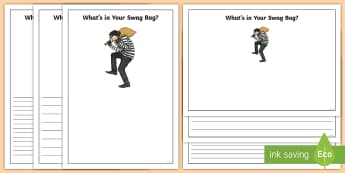 What's in Your Swag Bag? Writing Frames - Requests KS2 English, vocabulary, english display, writing frames, What's in your swag bag?, swag b