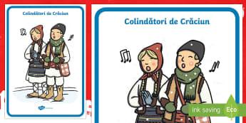 Colindătorii Planșă - Christmas, Crăciun, Moș Crăciun, tradiții, colinda, colindătorii, a colinda, romanian, Craciun,