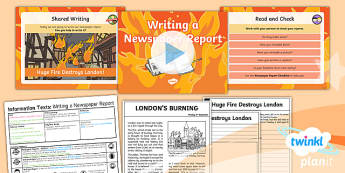 PlanIt Y1 Time Travel: The Great Fire of London Lesson Pack Information Texts (4)