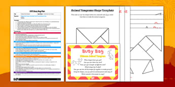 Chinese Animal Tangram EYFS Busy Bag Plan and Resource Pack - chinese new year, chinese, animal, tangram, eyfs, busy bag, plan, resource pack