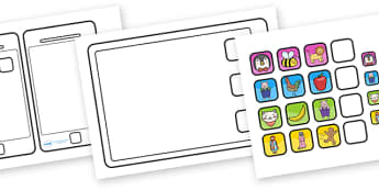 Create a Tablet Cut Out Activity - create a tablet, cut out, activity, cut out activity, create a tablet cut out, create a tablet activity, tablet cutting