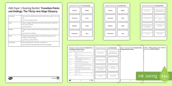 Transition Points and Endings Glossary Resource Pack
