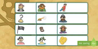 Etiquetas de perchero: Los piratas  - Los piratas, proyecto, transcurricular, el mar, barcos, identificación, percha, cajón,Spanish