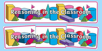 Reasoning in the Classroom Year 2 Display Banner-Welsh