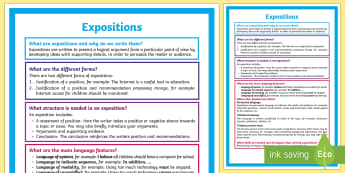What is an Exposition? A4 Display Poster - Literacy, What is an Exposition?  A4 Display Poster, exposition poster, display poster, poster, engl