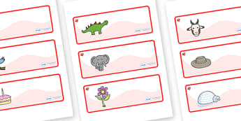 Ruby Red Themed Editable Drawer-Peg-Name Labels - Themed Classroom Label Templates, Resource Labels, Name Labels, Editable Labels, Drawer Labels, Coat Peg Labels, Peg Label, KS1 Labels, Foundation Labels, Foundation Stage Labels, Teaching Labels