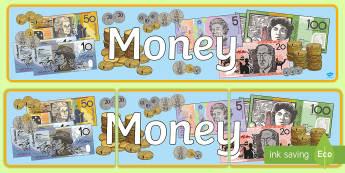 Money Display Banner - australia, money, display banner, display, banner, currency, australian, coins, dollars, cents,Austr