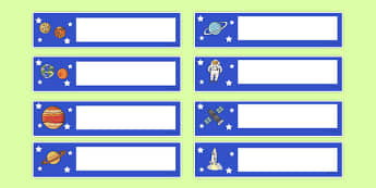 Space Themed Editable Gratnells Tray Labels - tray labels, space