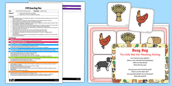 EYFS The Little Red Hen Matching Activity Busy Bag Plan and Resource Pack