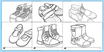 Shoe Design Template - Shoe shop, shoes, design, activity, role play, pack, shop, trainers, shoe box, labels, measuring chart, word cards