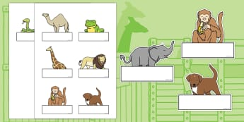 Self-Registration to Support Teaching on Dear Zoo - Dear Zoo, Rod Campbell story, self registration, register, attendance, zoo, zoo animals, adjectives, descriptive words, lion, monkey, puppy, giraffe, story book, story book resources, story sequenci