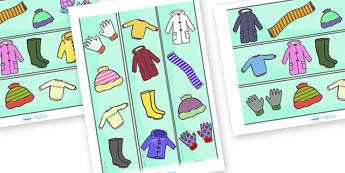 Winter Clothing Display Borders - Display border, classroom border, border,  Arctic, winter, xmas, display poster, A4, display, skis, ice skates, polar bear, whale, penguin, huskey, snow, winter, frost, cold, ice, hat, gloves