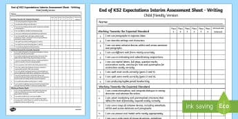 End of KS2 Expectations Writing Assessment Tracker - end of ks2, ks2, expectations, writing, assessment, write, tracker