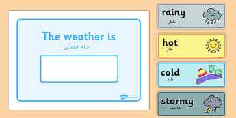 Weather Display Arabic Translation - arabic, weather, display, todays weather, today