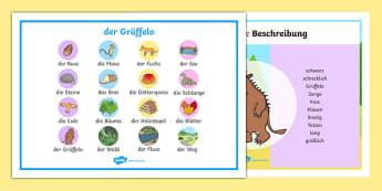 The Gruffalo Word Mats