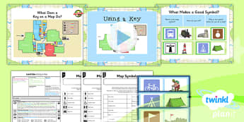 PlanIt - Geography Year 3 - Land Use Lesson 2: Using a Key Lesson Pack