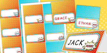 Superhero Themed Birthday Party Place Names - birthdays, parties