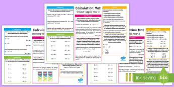Year 3 Addition, Subtraction, Multiplication and Division Differeniated Maths Mats - KS2 Maths, Year 3, Y3, addition, subtraction, multiplication, division