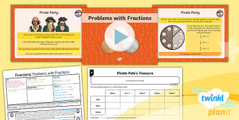 PlanIt Y3 Fractions Lesson Pack Solve Problems Involving Fractions (2) - Fractions, fraction of a set of objects, fraction of a set, fractions of groups, fraction of a number, fraction of a quantity, problem solving, investigate, investigation
