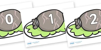 Numbers 0-100 on Haggis - 0-100, foundation stage numeracy, Number recognition, Number flashcards, counting, number frieze, Display numbers, number posters
