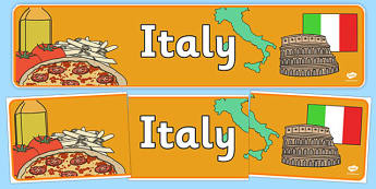 Italy Display Banner - Italy, Olympics, Olympic Games, sports, Olympic, London, 2012, display, banner, sign, poster, activity, Olympic torch, flag, countries, medal, Olympic Rings, mascots, flame, compete, events, tennis, athlete, swimming