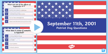 Patriot Day Quiz Questions PowerPoint