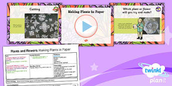 PlanIt - Art UKS2 - Plants and Flowers Lesson 4: Making Plants in Paper Lesson Pack