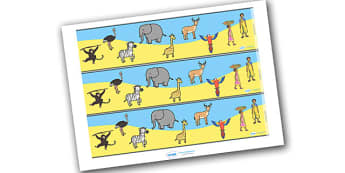 Handa's Surprise Display Borders - Handa's Surprise, Eileen Browne, resources, Handa, Akeyo, mango, guava, Africa, avacado, passion fruit, monkey, African animals, story, story book, story book resources, story sequencing, story resources, Display bo