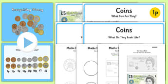 Maths Intervention Recognising Money Pack - SEN, special needs, maths, money, counting money, recognising money, adding money, coins, notes